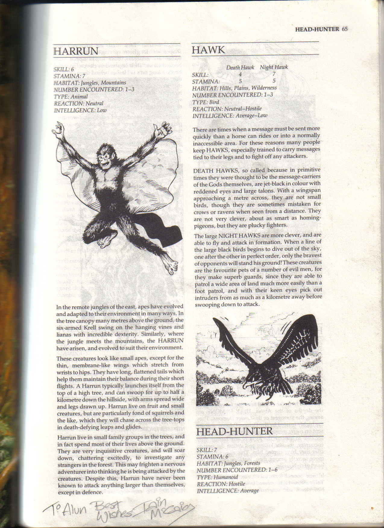Advanced Fighting Fantasy monsters and worlds Out_of_the_Pit_Signed_2